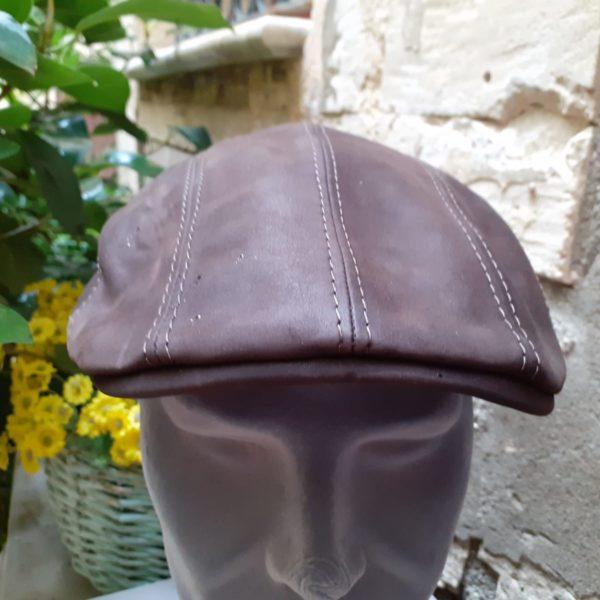 Cappello Berretto Coppola Panizza in Pura Lana Merino fantasia Verde Patchwork